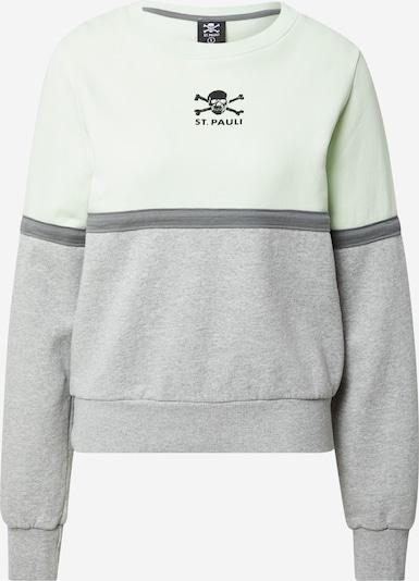 FC St. Pauli Sweatshirt in grau / weiß, Produktansicht