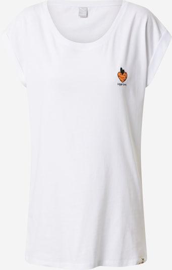 Iriedaily T-shirt 'Veggie' i orange / vit, Produktvy