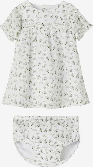 NAME IT Kleid 'Hajette' in oliv / pastellgrün / weiß, Produktansicht