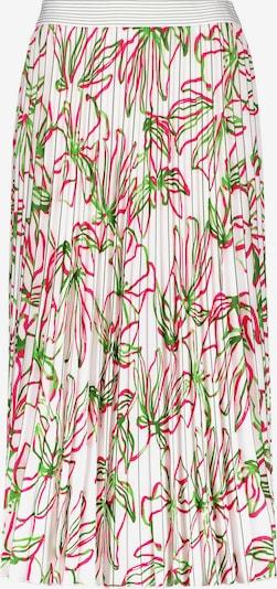 GERRY WEBER Plissérock mit floralem Muster in hellgrün / dunkelpink / weiß, Produktansicht