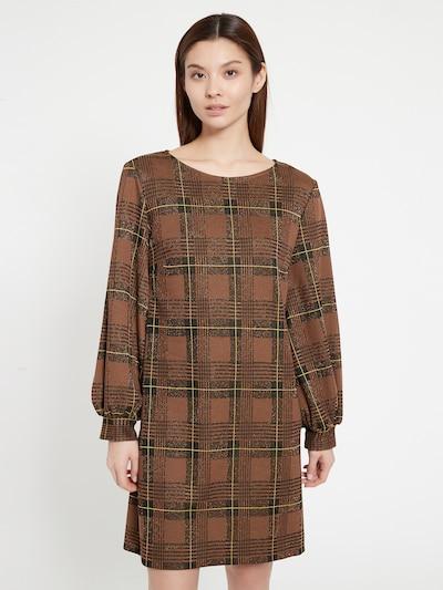 Ana Alcazar Kleid ' Begas ' in braun / gelb / schwarz, Modelansicht