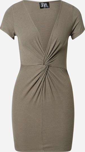 Parallel Lines Kleid in khaki, Produktansicht