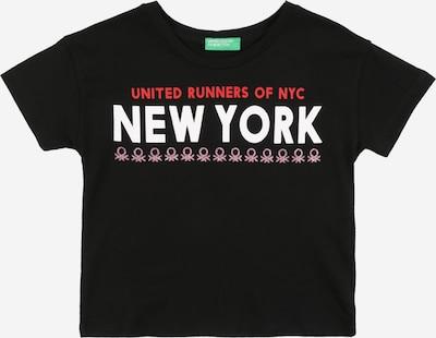 UNITED COLORS OF BENETTON T-Shirt en rose / rouge / noir / blanc, Vue avec produit