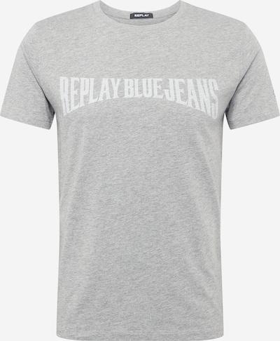 REPLAY Shirt in graumeliert / weiß, Produktansicht