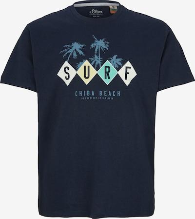 s.Oliver Men Big Sizes T-Shirt in nachtblau / mischfarben, Produktansicht