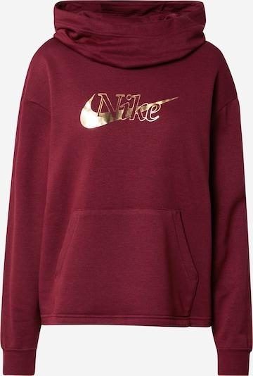 Nike Sportswear Sweatshirt in de kleur Goud / Wijnrood, Productweergave