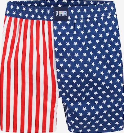 Happy Shorts Boxershorts ' Motive' in blau / rot / weiß, Produktansicht