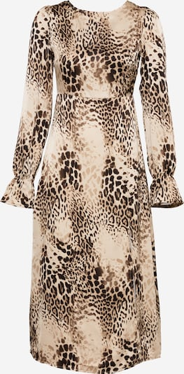 Missguided Robe en marron / noisette / noir, Vue avec produit