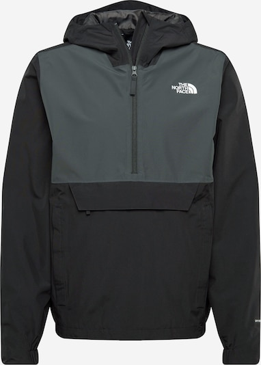 THE NORTH FACE Functionele jas 'Waterproof Fanorak' in de kleur Zwart / Zilver, Productweergave