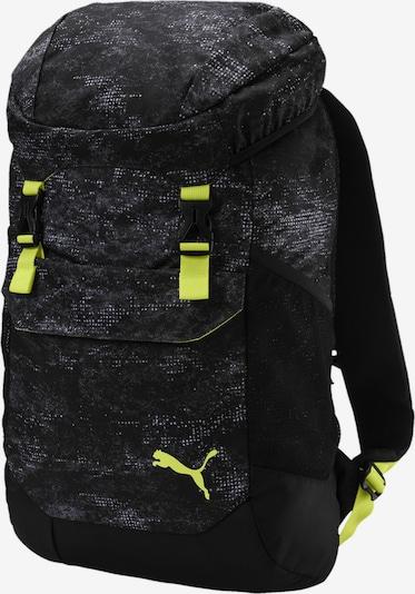 PUMA Rucksack in grau / neongrün / schwarz, Produktansicht