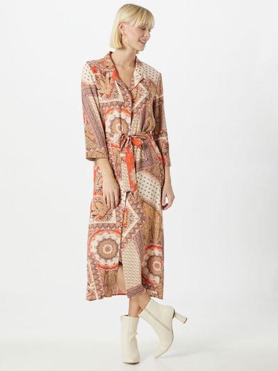 OBJECT Košeľové šaty 'Sun' - oranžová / biela, Model/-ka