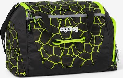 ergobag Sporttasche 'Zubehör' in hellgrau / neongrün / schwarz / weiß, Produktansicht
