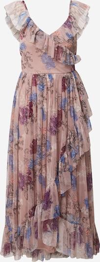 Maya Deluxe Klänning i blå / brun / gammalrosa / röd / vit, Produktvy