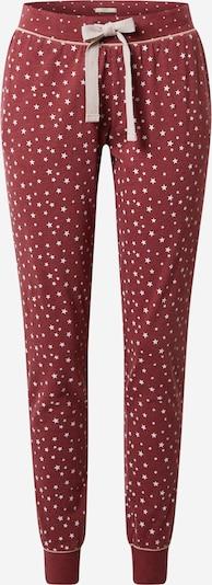 ESPRIT Pyjamasbukser 'KHIMMY' i pastelrød / hvid, Produktvisning