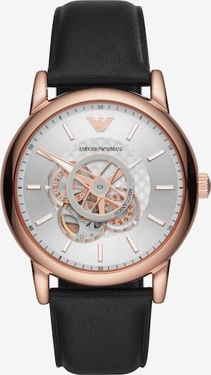 Emporio Armani Uhr in rosegold / schwarz, Produktansicht