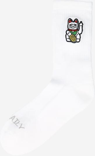 Iriedaily Chaussettes 'ByeBye' en blanc, Vue avec produit