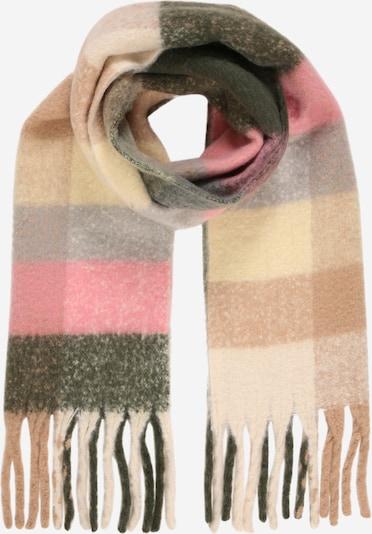 PIECES Sjal 'SANJO' i beige / mørkebrun / pink, Produktvisning