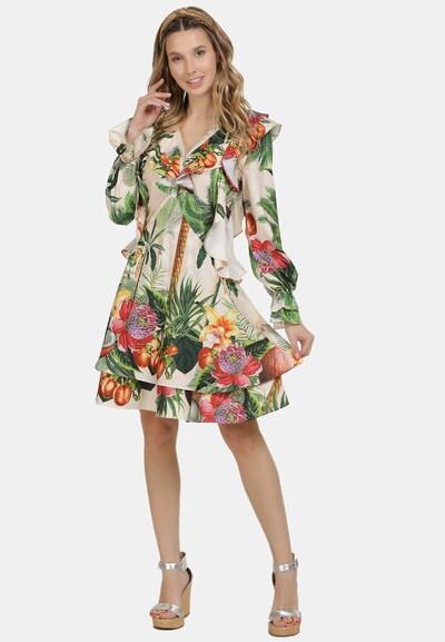 IZIA Sommerkleid in beige / mischfarben, Modelansicht