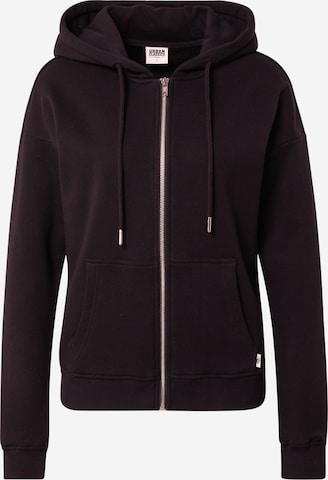 Urban Classics Sweat jacket 'Terry' in Black