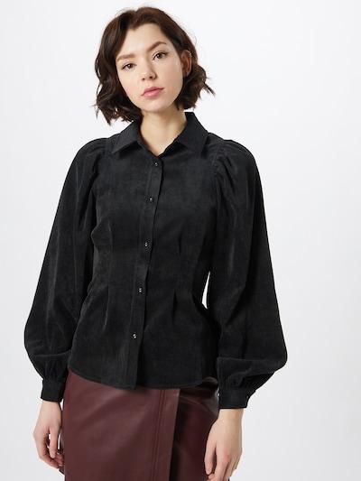 Bluză 'Ariella' Gina Tricot pe negru amestecat, Vizualizare model