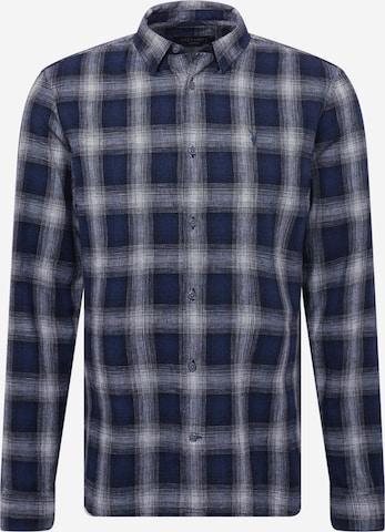 AllSaints Button Up Shirt 'Denby' in Blue