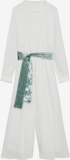 MANGO KIDS Overall 'Julia' in grün / weißmeliert, Produktansicht
