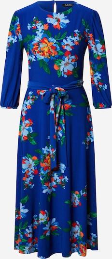 Lauren Ralph Lauren Jurk 'FELIA' in de kleur Hemelsblauw / Groen / Sinaasappel / Vuurrood, Productweergave