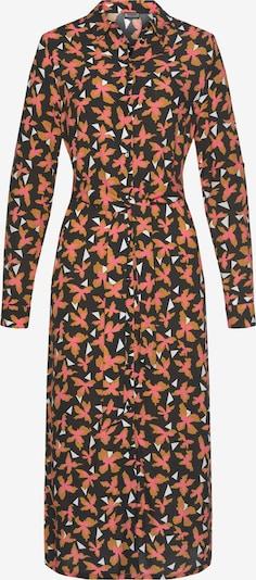 LAURA SCOTT Hemdblusenkleid in braun / rosa / schwarz, Produktansicht