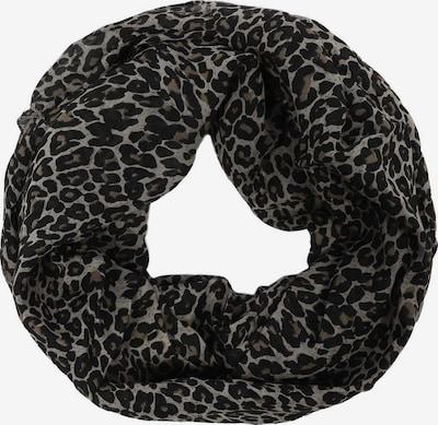 Zwillingsherz Sjaal in de kleur Beige / Grijs / Zwart, Productweergave