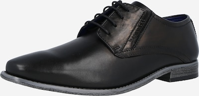 bugatti Δετό παπούτσι 'Armo' σε μαύρο, Άποψη προϊόντος
