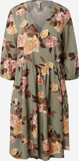 OBJECT Dress 'ROSE' in Brown / Chestnut brown / Dark green / Orange / Light pink, Item view