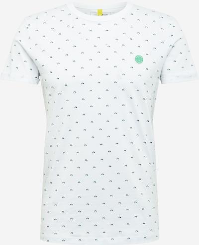 TOM TAILOR DENIM T-Shirt in marine / weiß, Produktansicht