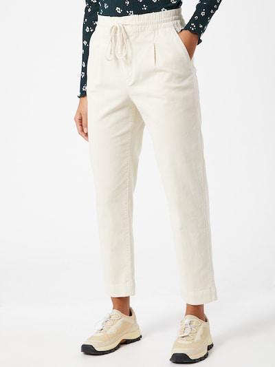 Klostuotos kelnės iš GAP , spalva - kremo, Modelio vaizdas
