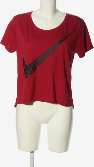 NIKE Cropped Top in XS in rot / schwarz, Produktansicht
