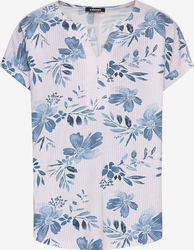 Olsen Shirt in blau / pastellpink / weiß, Produktansicht