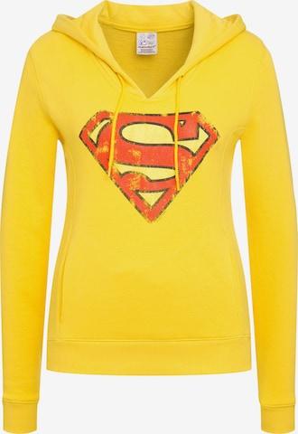 LOGOSHIRT Sweatshirt 'DC Comics - Superman' in Yellow