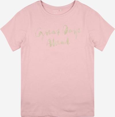 NAME IT T-Shirt 'BRIGITTA' in silbergrau / altrosa, Produktansicht