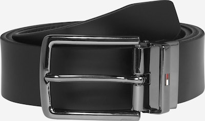TOMMY HILFIGER Belt 'Denton' in black / silver, Item view