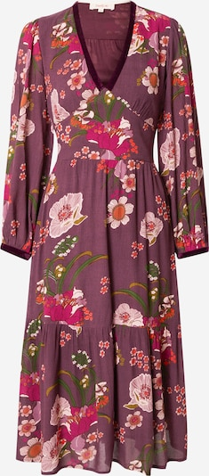 Derhy Kleid in grasgrün / aubergine / orange / pitaya / puder, Produktansicht