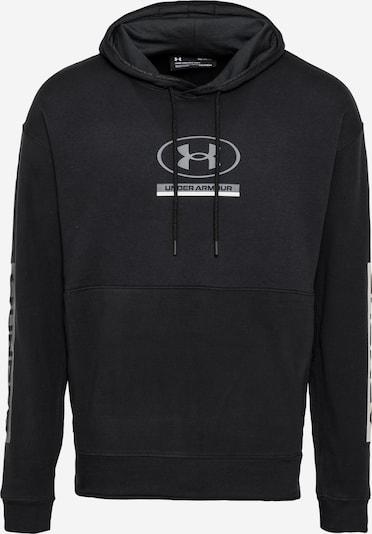 UNDER ARMOUR Sportsweatshirt in grau / schwarz / weiß, Produktansicht