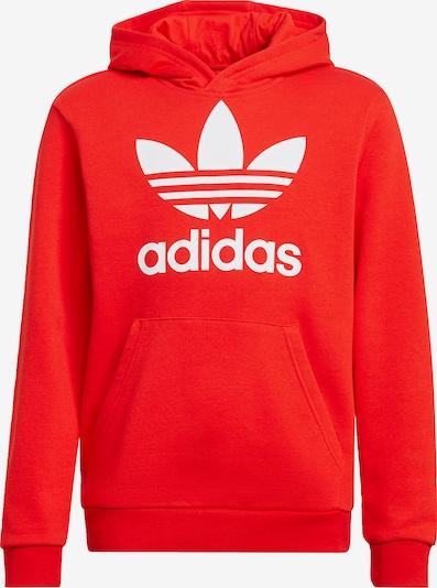 ADIDAS ORIGINALS Sweatshirt 'Trefoil' in rot / weiß, Produktansicht