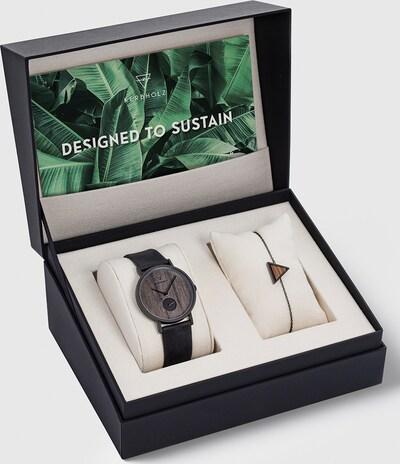 Kerbholz Uhr + Armband in schwarz, Produktansicht