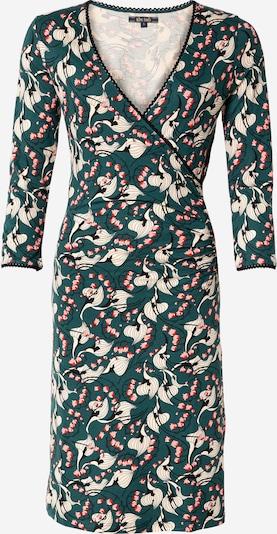 King Louie Kleid 'Calla' in beige / dunkelgrün / rosa / rot / schwarz, Produktansicht