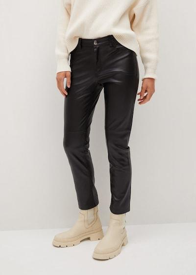 MANGO Hose 'Lille' in schwarz, Modelansicht