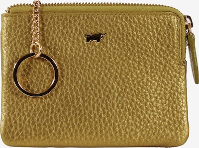 Braun Büffel Schlüsseletui ASCOLI mit coolem Metallic-Effekt in gelb, Produktansicht