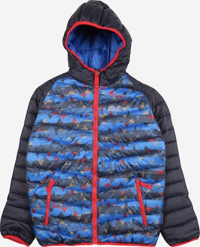 JACK WOLFSKIN Jacke 'ZENON' in blau / nachtblau / rot, Produktansicht