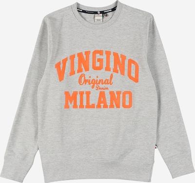 VINGINO Sweat en gris chiné / orange, Vue avec produit