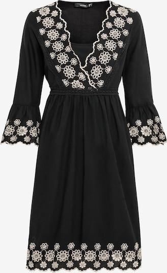 HALLHUBER Hängerkleid mit Kontraststickerei in schwarz, Produktansicht