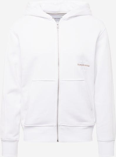 Calvin Klein Jeans Sweatjacke in brokat / weiß, Produktansicht