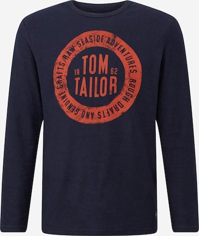 TOM TAILOR Shirt in kobaltblau / rostrot, Produktansicht